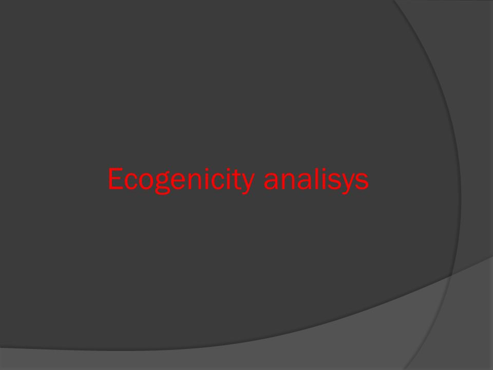 Ecogenicity analisys