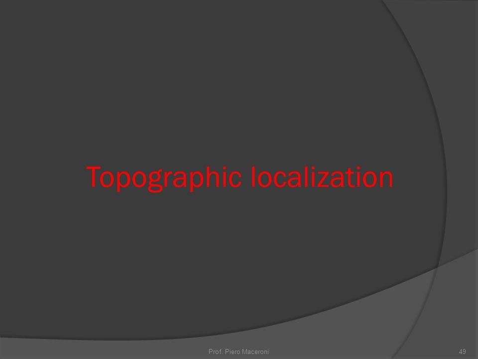 Topographic localization