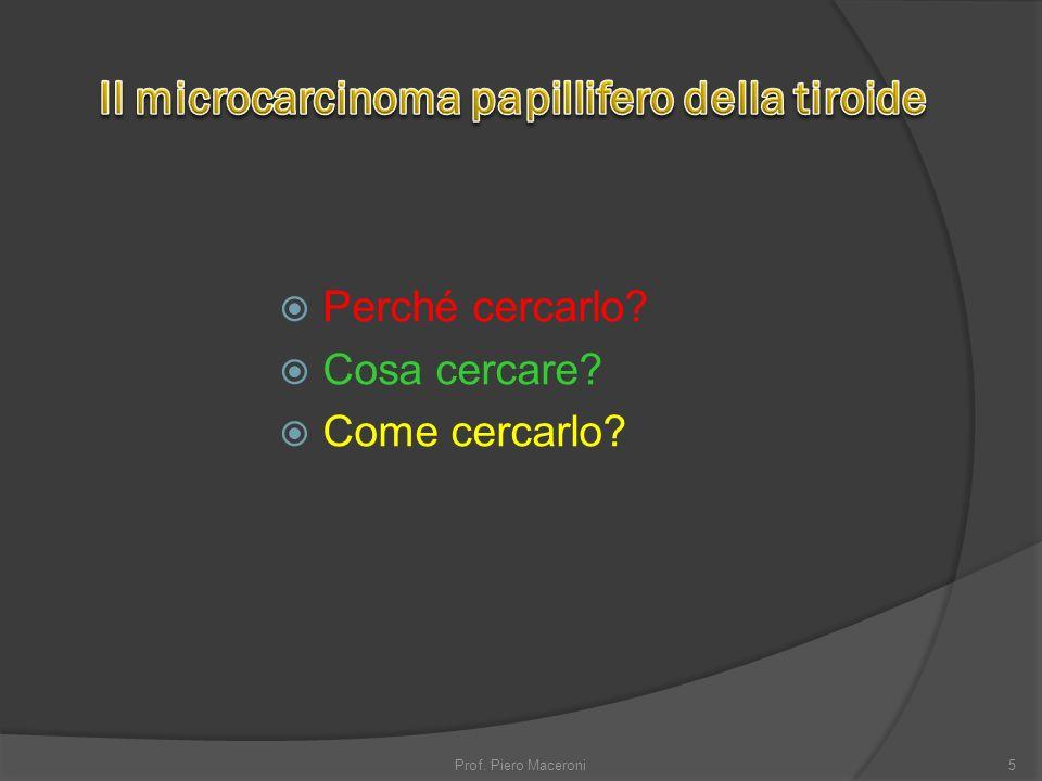 Il microcarcinoma papillifero della tiroide