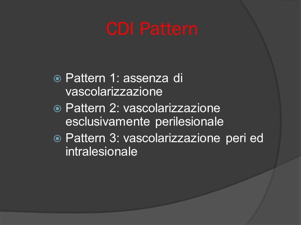 CDI Pattern Pattern 1: assenza di vascolarizzazione