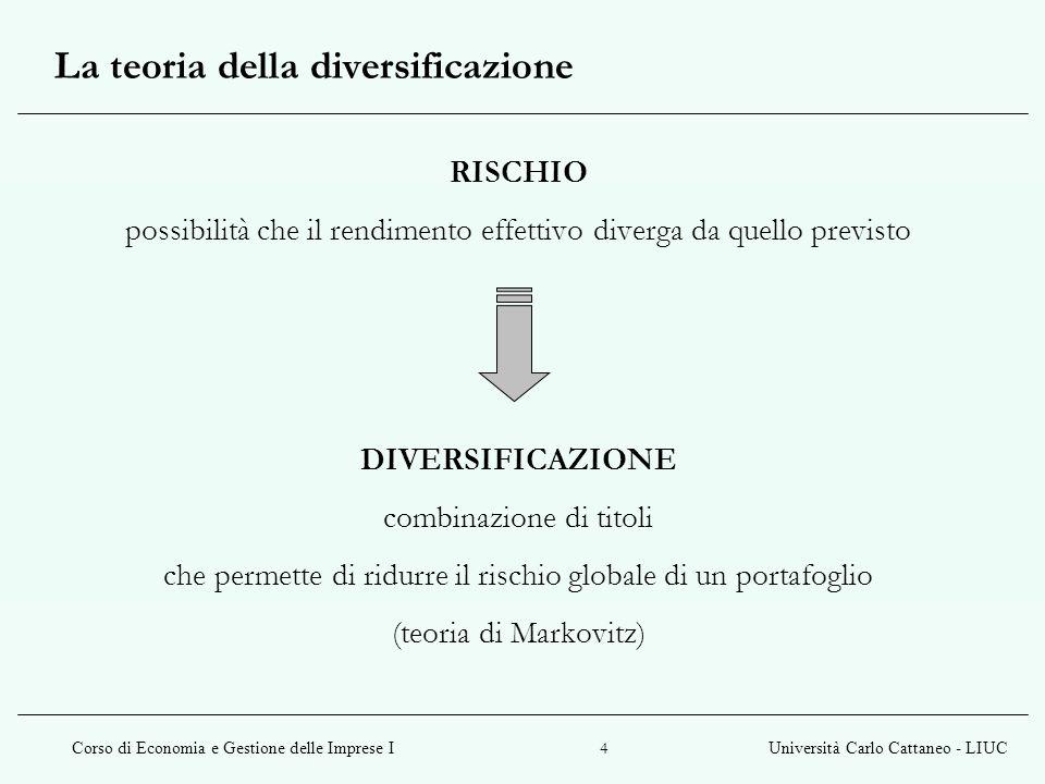 La teoria della diversificazione