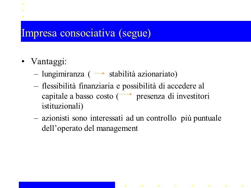 Impresa consociativa (segue)