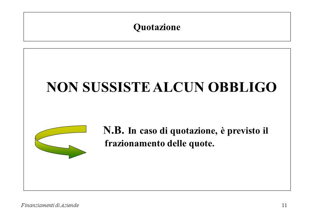 NON SUSSISTE ALCUN OBBLIGO
