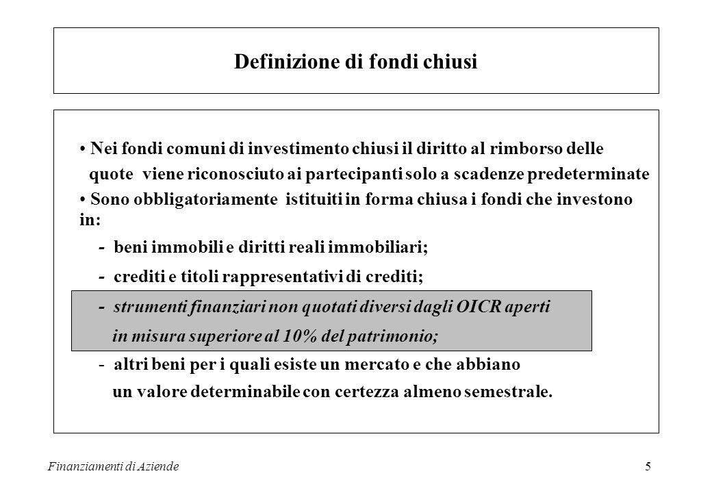 Definizione di fondi chiusi
