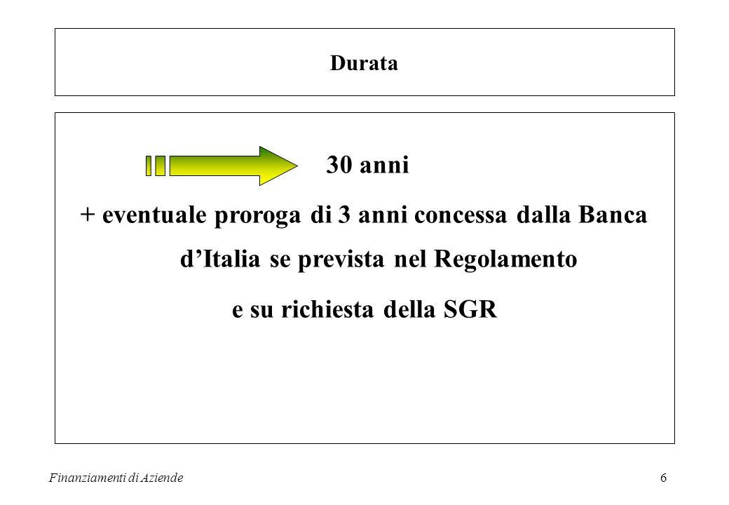 e su richiesta della SGR