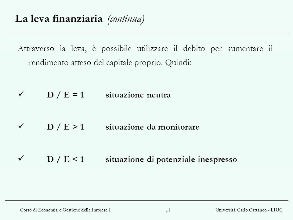 La leva finanziaria (continua)