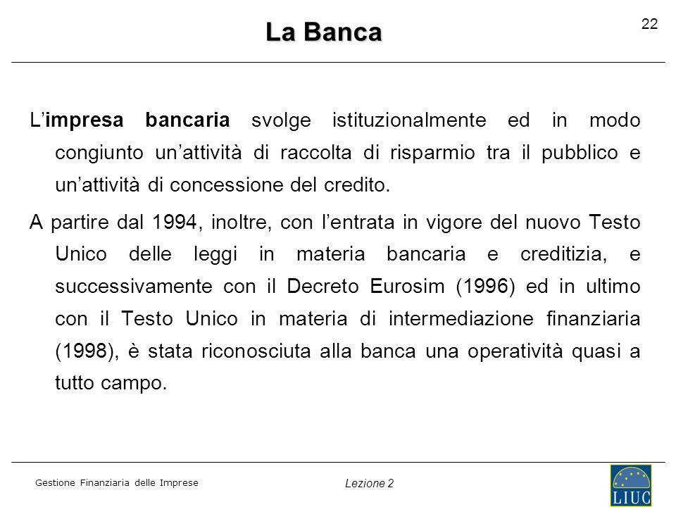 La Banca 22.