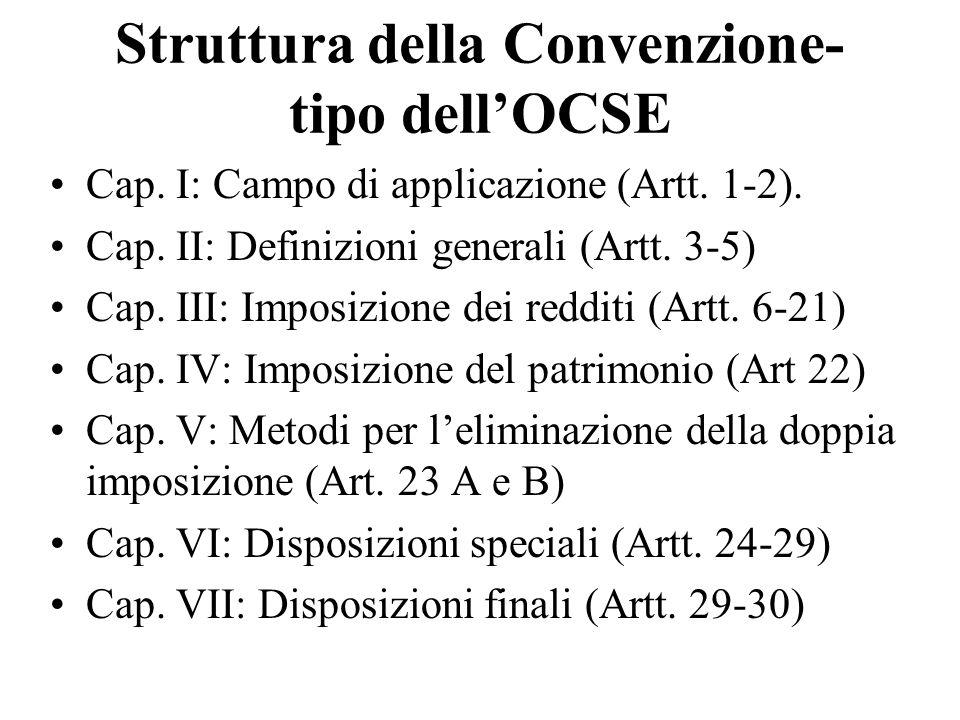 Struttura della Convenzione-tipo dell'OCSE