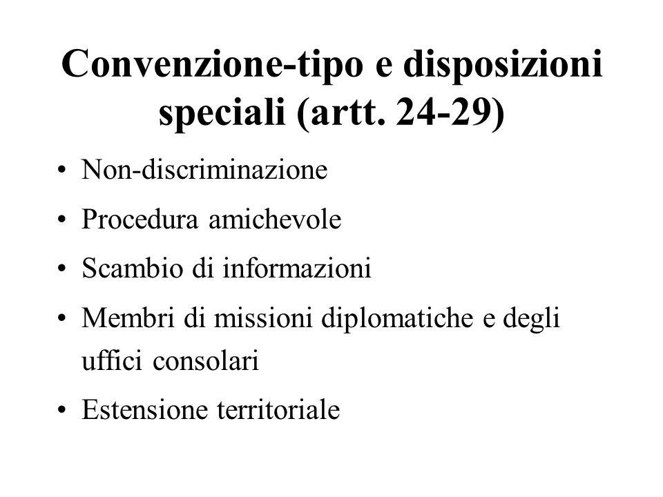 Convenzione-tipo e disposizioni speciali (artt. 24-29)