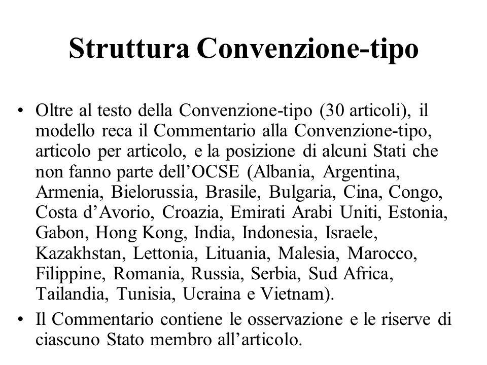 Struttura Convenzione-tipo