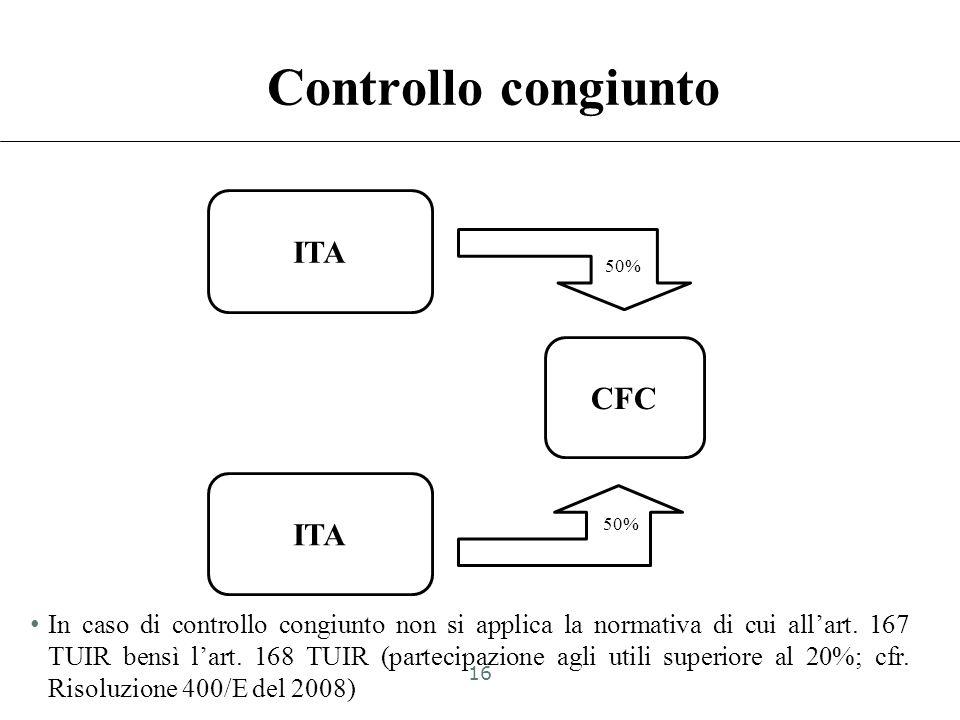 Controllo congiunto ITA CFC