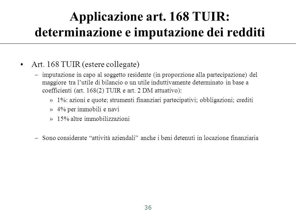 Applicazione art. 168 TUIR: determinazione e imputazione dei redditi