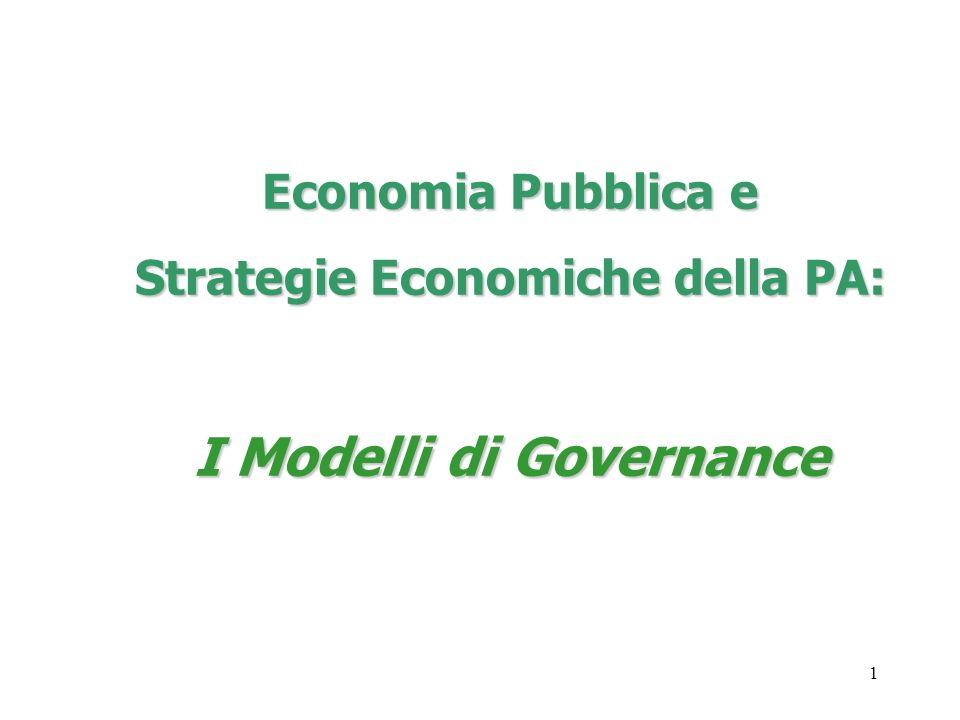 Strategie Economiche della PA: I Modelli di Governance