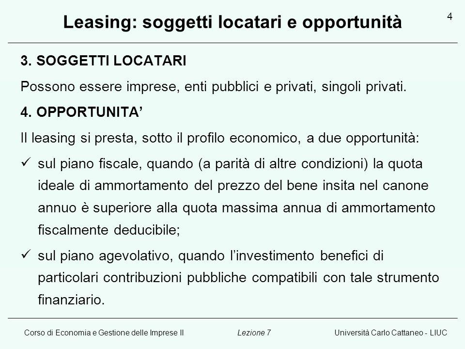 Leasing: soggetti locatari e opportunità