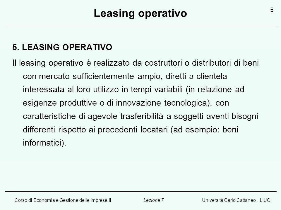 Leasing operativo 5. LEASING OPERATIVO