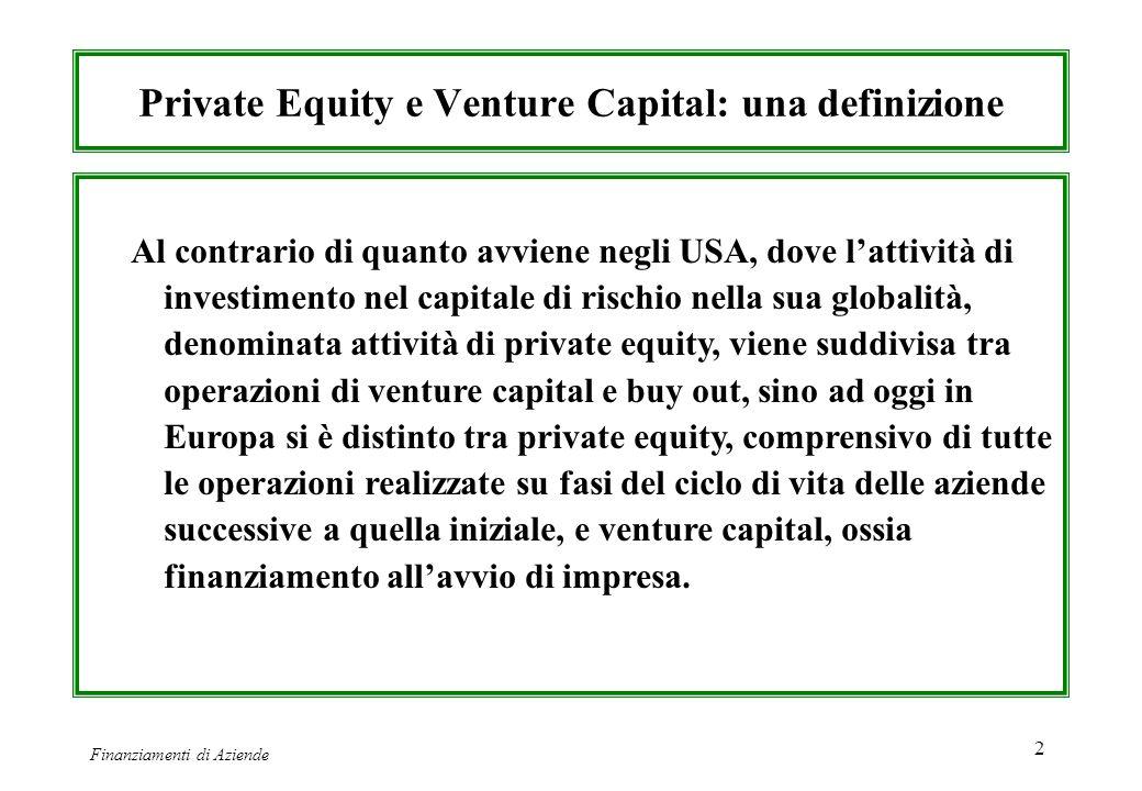Private Equity e Venture Capital: una definizione