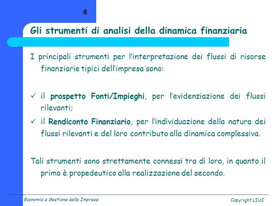Gli strumenti di analisi della dinamica finanziaria