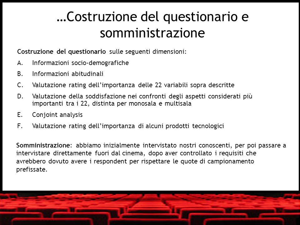 …Costruzione del questionario e somministrazione
