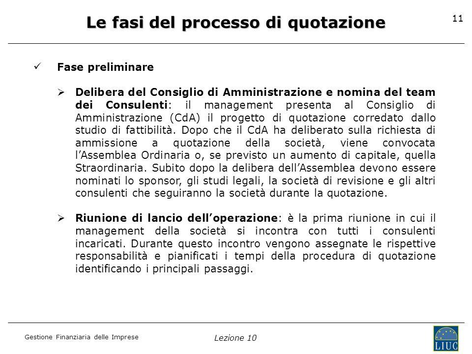 Le fasi del processo di quotazione