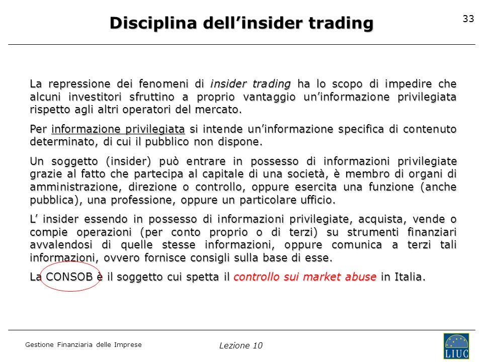 Disciplina dell'insider trading