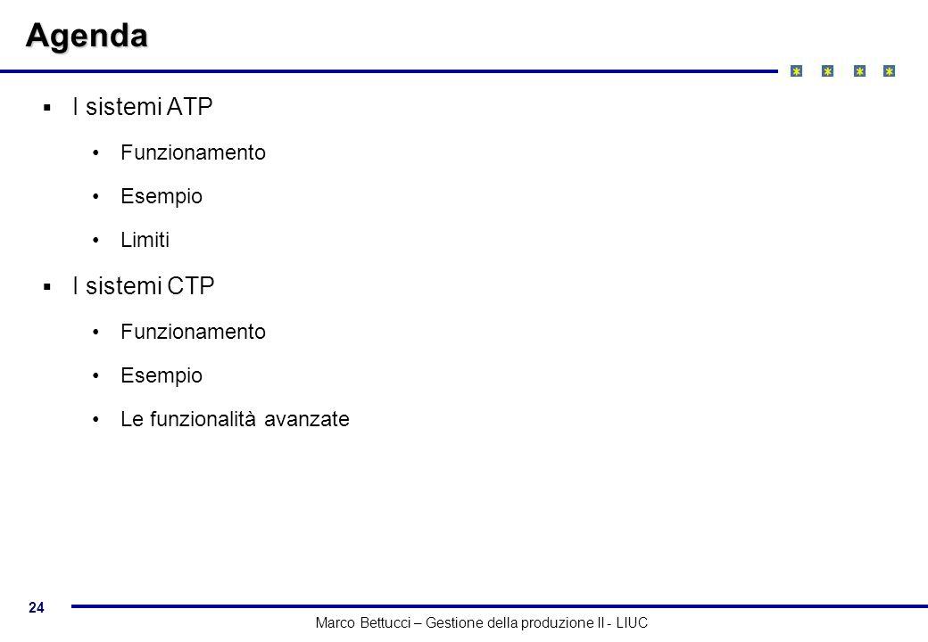 Agenda I sistemi ATP I sistemi CTP Funzionamento Esempio Limiti