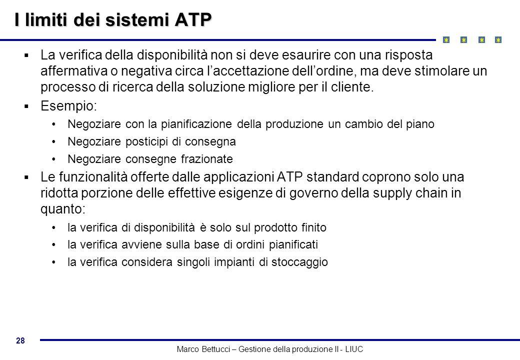 I limiti dei sistemi ATP
