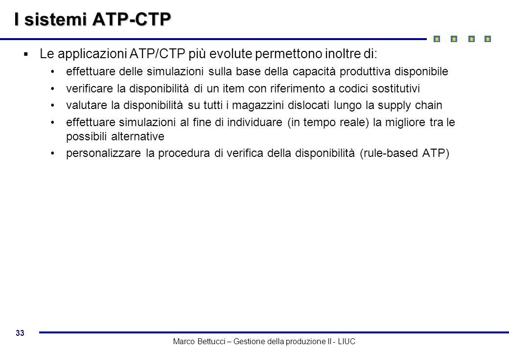 I sistemi ATP-CTP Le applicazioni ATP/CTP più evolute permettono inoltre di: