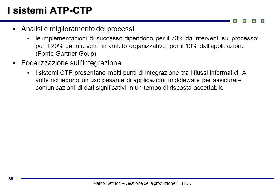 I sistemi ATP-CTP Analisi e miglioramento dei processi
