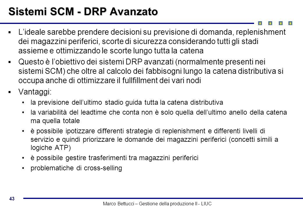 Sistemi SCM - DRP Avanzato