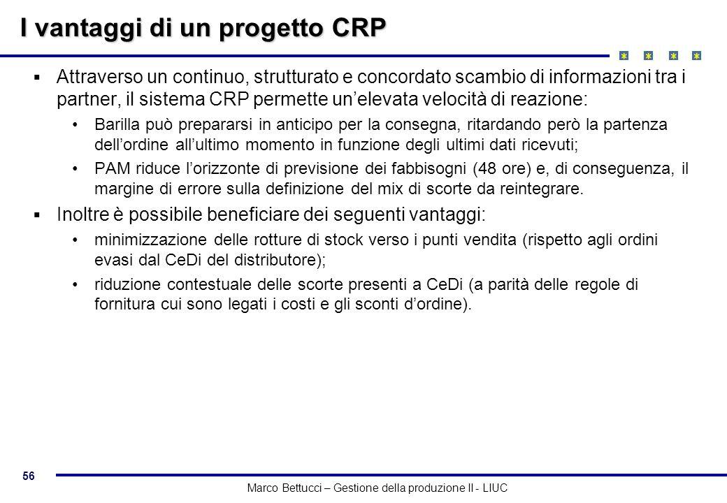 I vantaggi di un progetto CRP