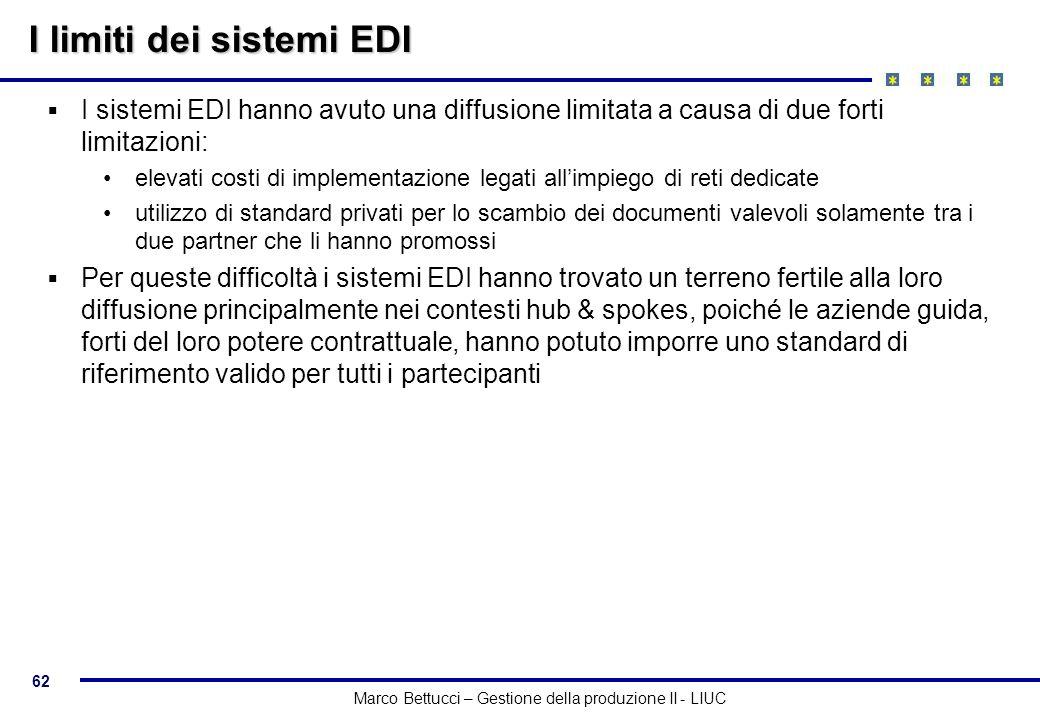 I limiti dei sistemi EDI