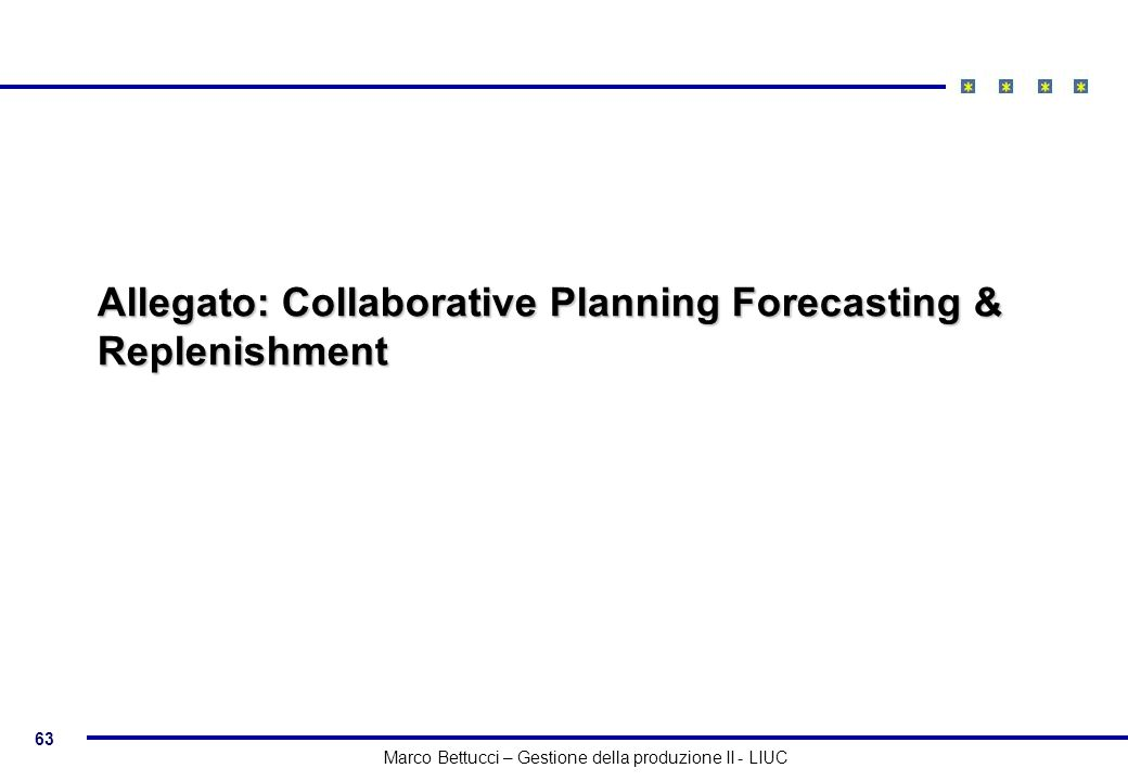 Allegato: Collaborative Planning Forecasting & Replenishment