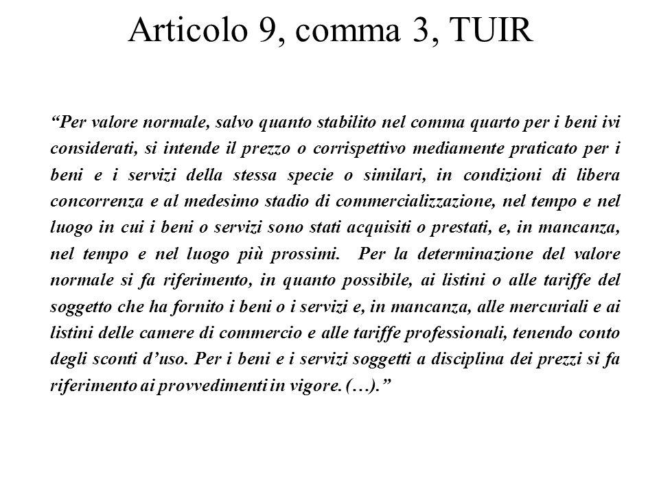 Articolo 9, comma 3, TUIR