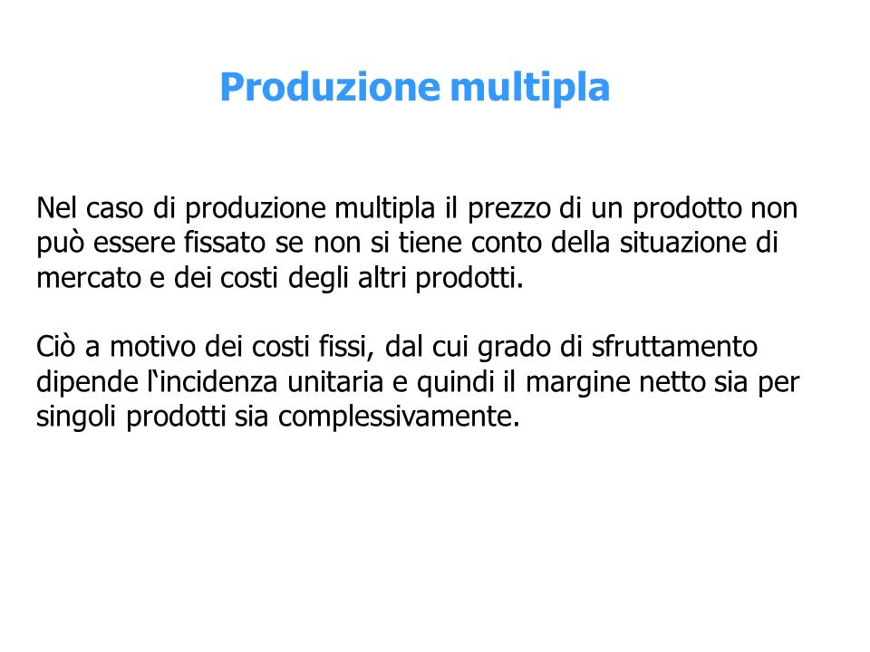 Produzione multipla