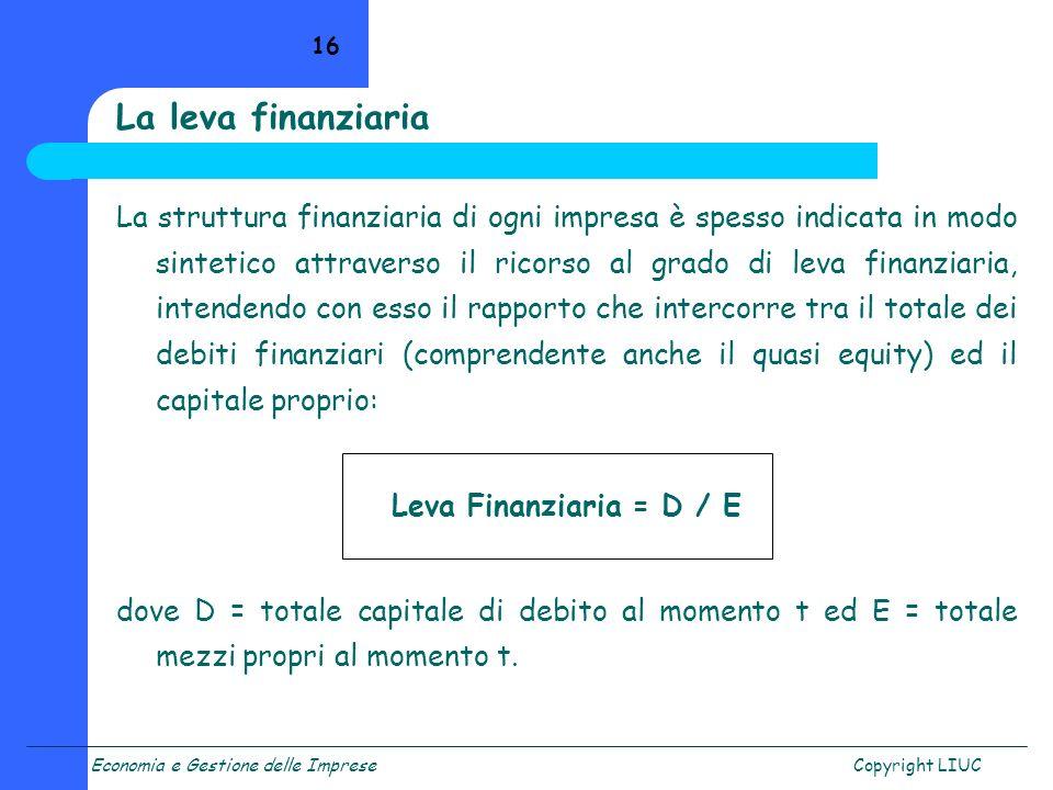 La leva finanziaria