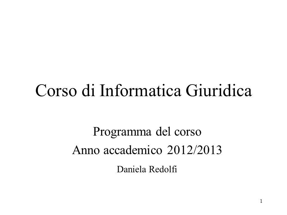 Corso di Informatica Giuridica