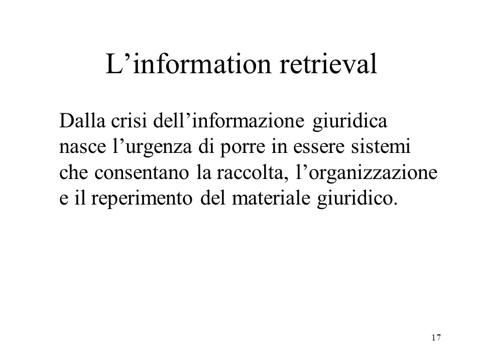L'information retrieval
