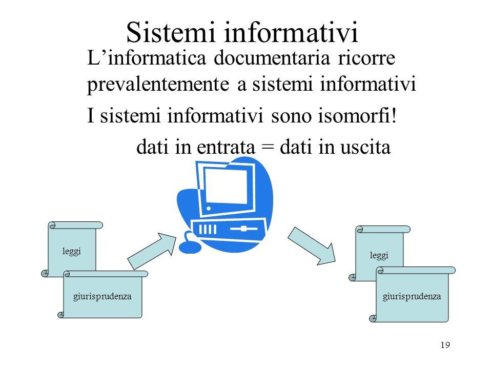 Daniela Redolfi Sistemi informativi. L'informatica documentaria ricorre prevalentemente a sistemi informativi.