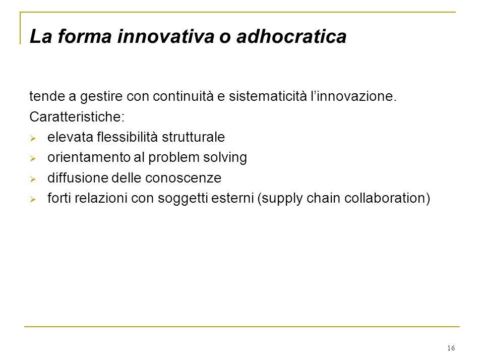 La forma innovativa o adhocratica