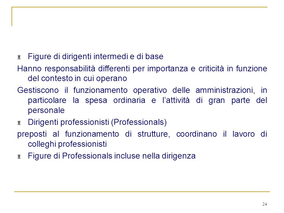 Figure di dirigenti intermedi e di base