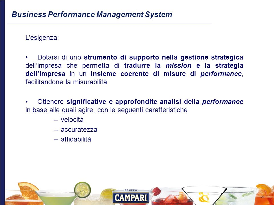 Business Performance Management System