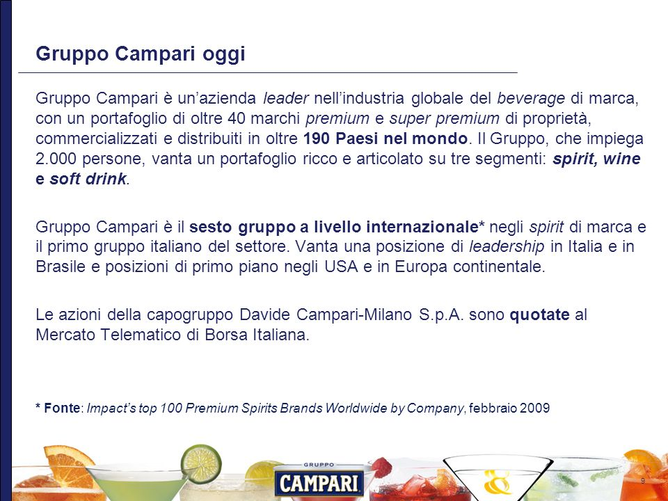 Gruppo Campari oggi