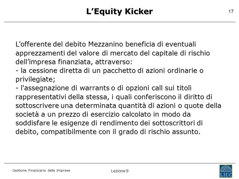 L'Equity Kicker