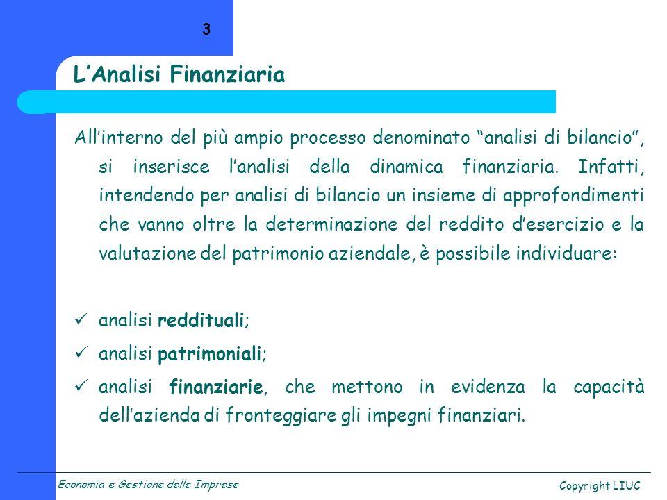 L'Analisi Finanziaria