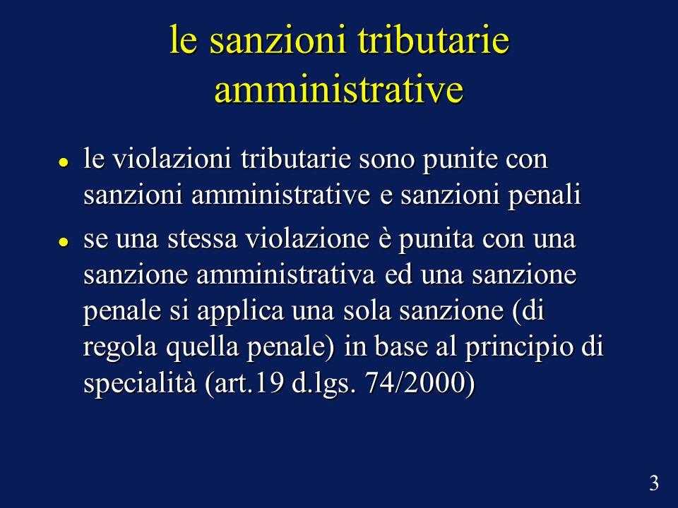 le sanzioni tributarie amministrative