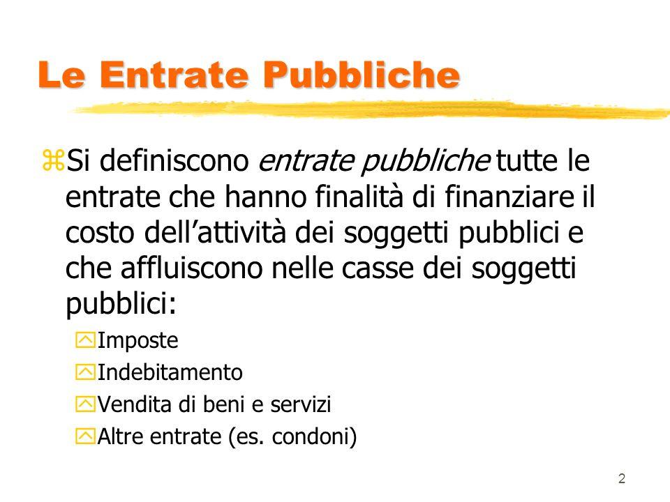 Le Entrate Pubbliche