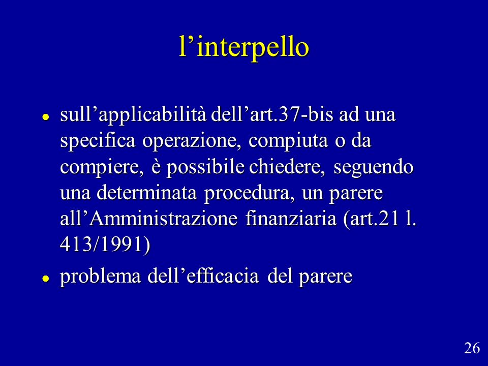 l'interpello
