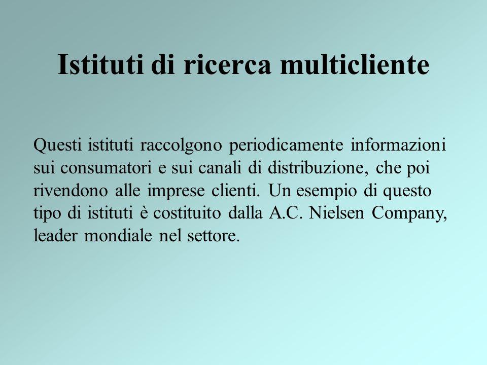Istituti di ricerca multicliente