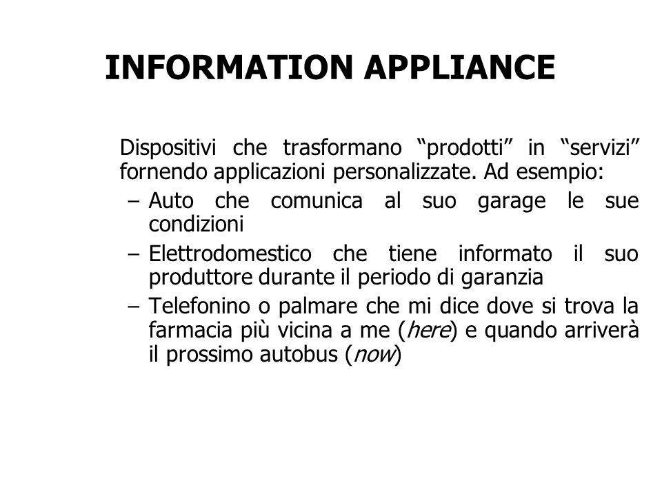 INFORMATION APPLIANCE