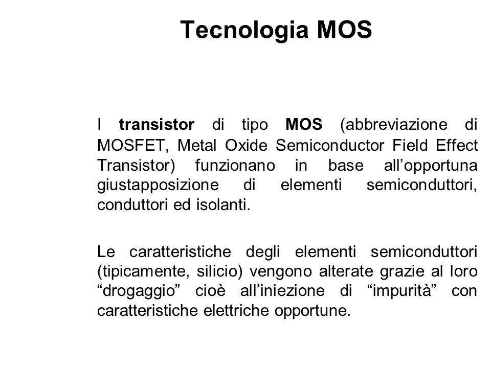 Tecnologia MOS